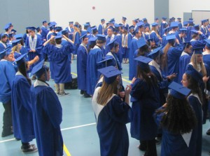 TMHS graduates gather in gym