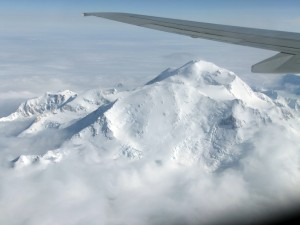 Denali as seen from an Alaska Airlines flight on Sunday June 24.