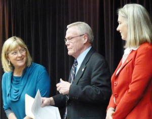 Rep. Kerttula, Sen. Egan and Rep. Munoz at a forum during the 2013 legislative session. Photo by Ed Schoenfeld.