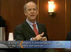 Sen. Hollis French argued against the measure, saying the current law is strong enough.