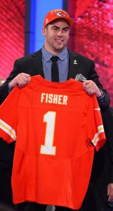 Eric Fisher, offensive tackle from Central Michigan, was the No. 1 pick in the 2013 NFL draft. He was chosen by the Kansas City Chiefs. Rich Kane /UPI /Landov