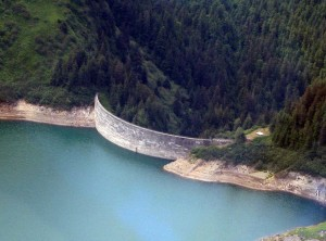 The dam above Salmon Creek.