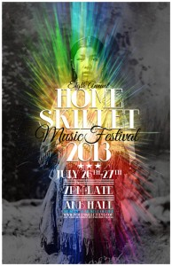 A picture of the flyer for Homeskillet Festival