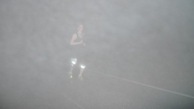 Klondike runner in the heavy fog