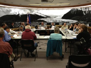 The CBJ assembly and planning commission met in a special joint session Monday night. (Photo by Lisa Phu/KTOO)