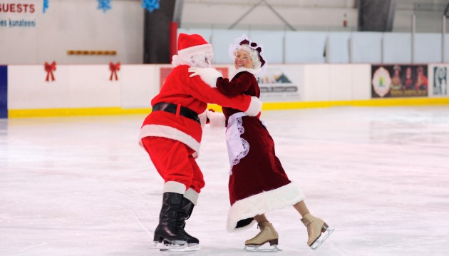 Santa saves the last dance for Mrs. Claus as the Juneau Skating Club closes out its holiday recital a Treadwell Ice Arena.