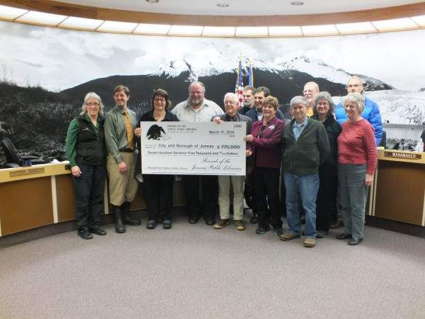 Friends of the Juneau public libraries big check
