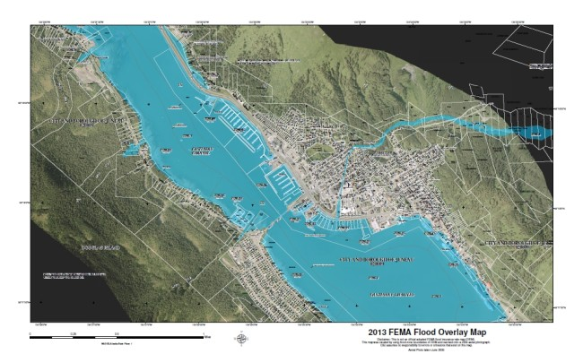 Downtown and West Juneau FEMA flood maps 2013