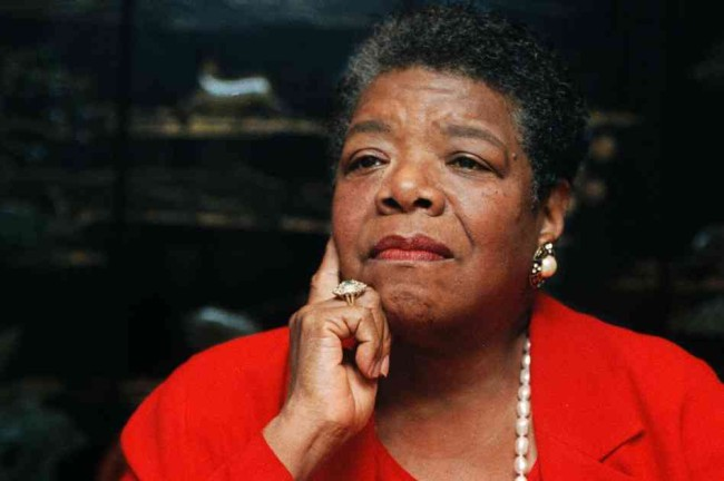 Maya Angelou, poet in residence at Wake Forest University, talked about the poem she wrote for President Clinton's inauguration from her office in Winston-Salem, N.C., on Sept. 16, 1996. Chuck Burton/AP
