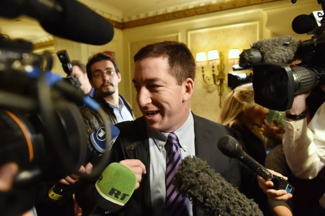 Glenn Greenwald in April, arriving in the U.S. for the first time since documents were disclosed to him by former intelligence analyst Edward Snowden. Stan Honda/AFP/Getty Images