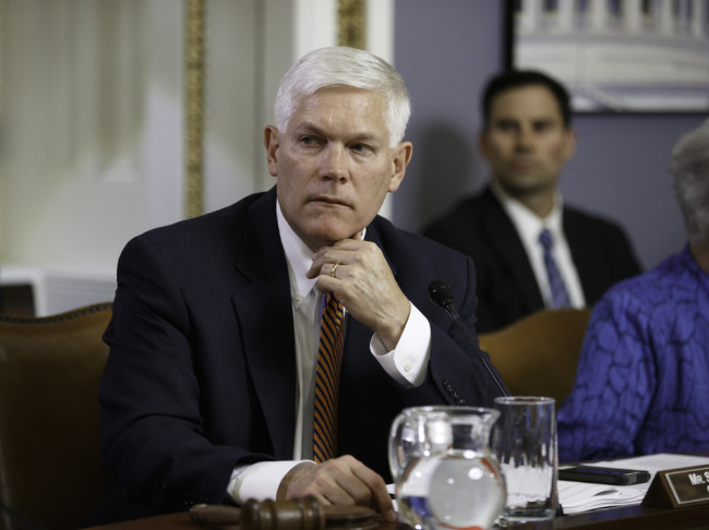 Rep. Pete Sessions, R-Texas, in a hearing of the House Rules Committee last month. Sessions withdrew his name from consideration to replace outgoing House Majority Leader Eric Cantor. J. Scott Applewhite/AP