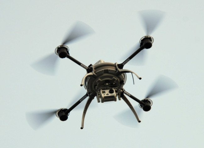 Quadcopters similar to this one were the most common type of UAV used in national parks. (Photo courtesy Greg Walker / University of Alaska Fairbanks)
