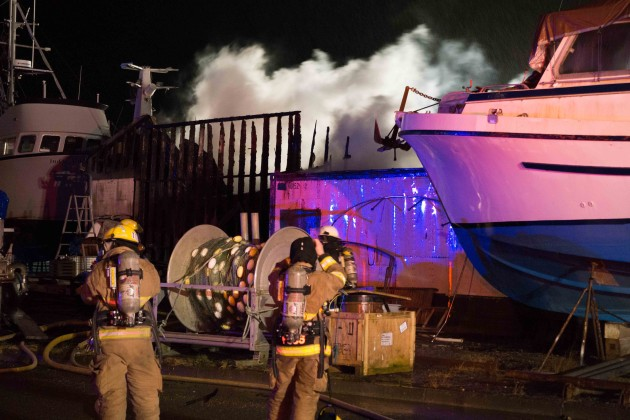 one injury reported in downtown boat yard fire